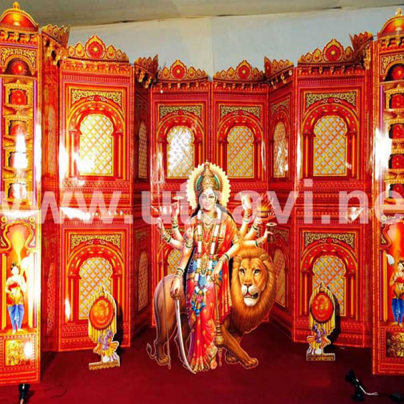 Home Decor Ideas For Navratri: NAVRATRI DECORATION SET 1
