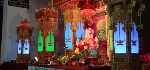 utsavi ganpati decoration makhar ideas