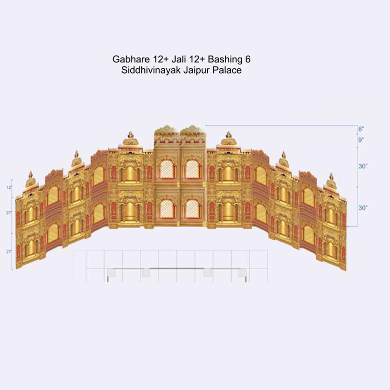 Siddhivinayak Jaipur Palace Gabhare 12 + Jali 12 + Bashing 6