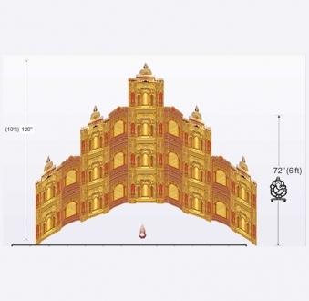 Siddhivinayak Jaipur Palace 52 Jali Set